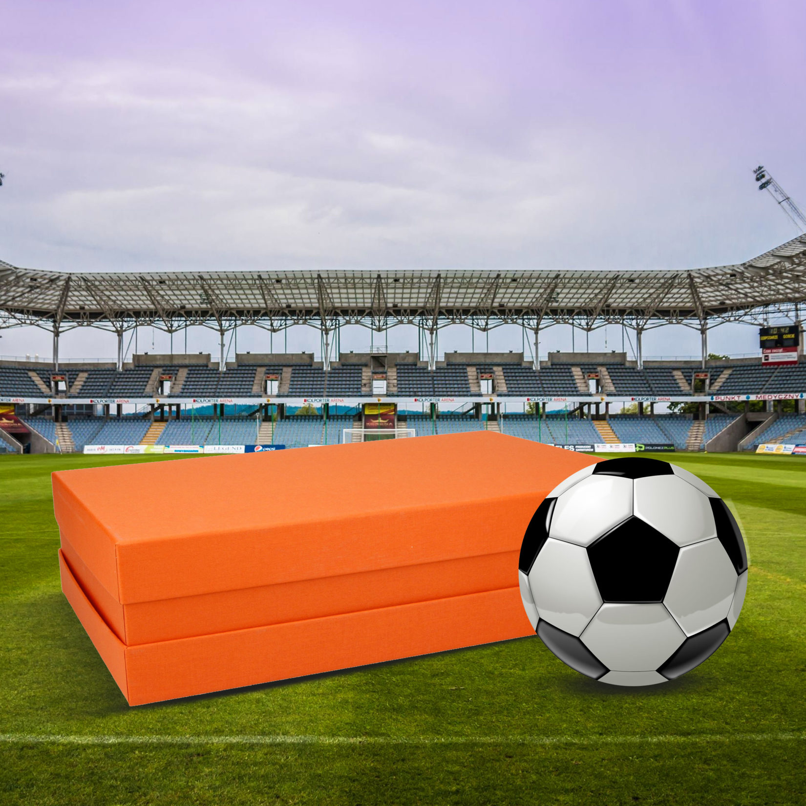 Die Orange Box bei der WM