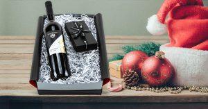 Geschenkset mit Wein und Schokolade - Weihnachtsgeschenk