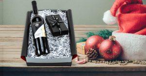 Geschenkset mit Wein und Schokolade - Weihnachtgeschenk
