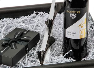 Weinset mit Wein von Schittler & Becker - Geschenkset zu Weihnachten