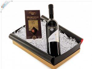 Geschenkidee zu Weihnachten - Geschenkset mit Wein & Schokolade