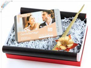 Urlaubsbox - Geschenkset mit Reisegutschein