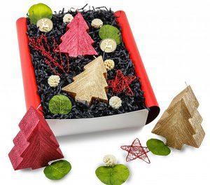 Weihnachtsgeschenk Geschenkset mit Kerzen in schöner Geschenkbox / Geschenkverpackung