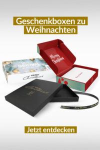 Geschenkboxen zu Weihnachten